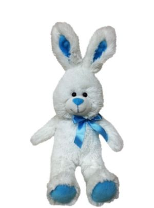 Caribbean Blue Bow Easter Bunny Plush