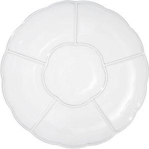 CLEAR Plastic Scalloped Sectional Platter