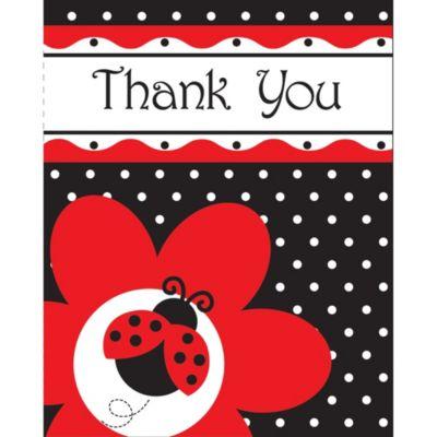 Fancy Ladybug Thank You Notes 8ct