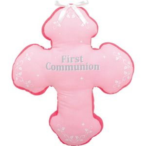 Pink First Communion Autograph Pillow