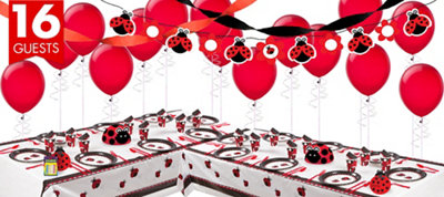 Ladybug Fancy 1st Birthday Party Supplies Deluxe Party Kit