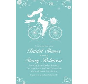 Custom Chapel Bicycle Bridal Shower Invitations