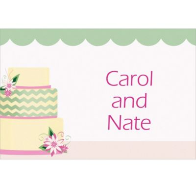 Modern Wedding Cake Custom Wedding Thank You Note