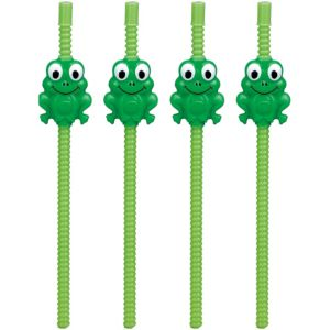 Passover Frog Flexible Straws 4ct