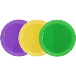 Mardi Gras Plastic Snack Plates 40ct
