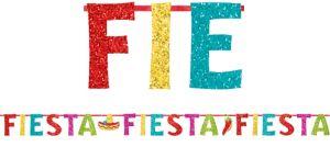 Glitter Fiesta Letter Banner