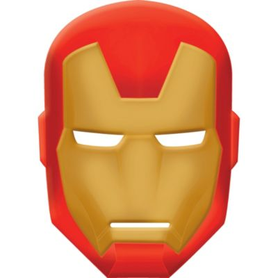 Iron man avengers mask party city for Avengers mask template
