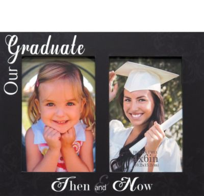 Then And Now Graduation Double Photo Frame 4in X 6in