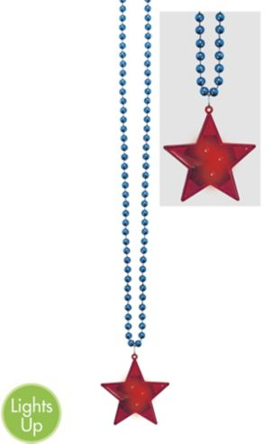 Light-Up Patriotic Bead Necklace