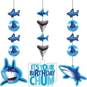 Shark String Decorations 3ct