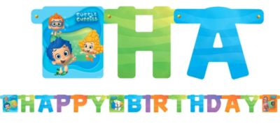 Bubble Guppies Birthday Banner 7ft