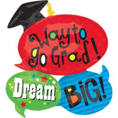 Word Bubble Graduation Balloon