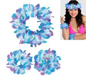 Cool Serendipity Head & Wrist Flower Lei Set 3pc