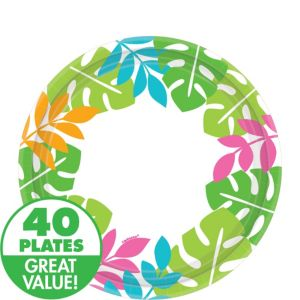 Palm Leaf Dessert Plates 40ct