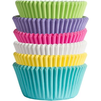 Bright Rainbow Baking Cups 150ct