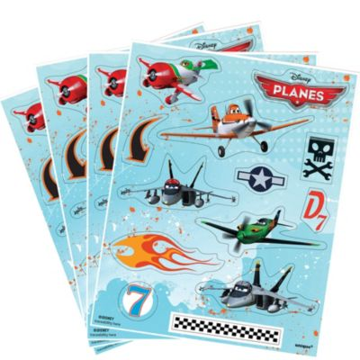 Planes Stickers 4 Sheets