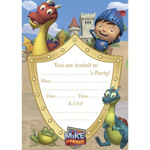 Mike the Knight Invitations 20ct