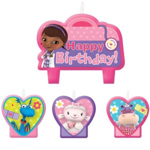 Doc McStuffins Birthday Candles 4ct
