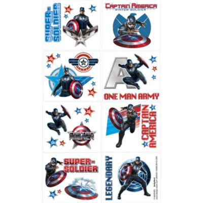 Captain America Tattoos 1 Sheet