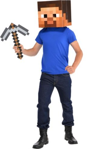 Minecraft Steve Head - Party CitySteve Minecraft Costume Party City