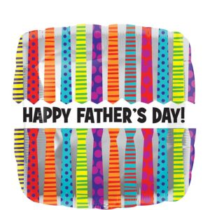 Foil Neckties Father's Day Balloon 17in