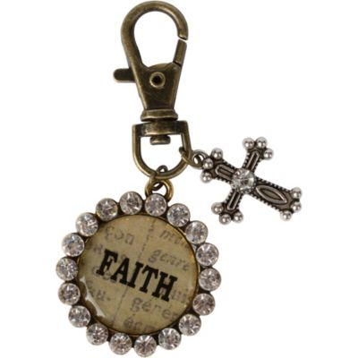 Vintage Faith Cross Key Chain
