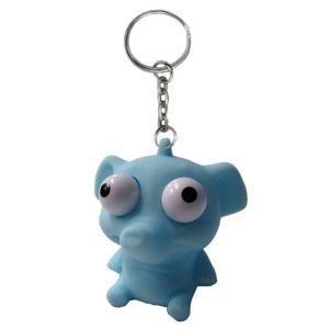 Eye Pop Squeeze Elephant Keychain