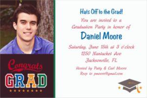 Custom Made The Grade Graduation Photo Invitations