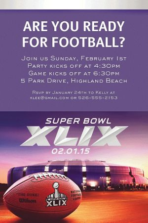 Custom NFL Super Bowl Invitations