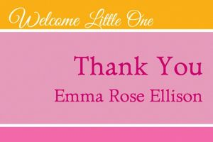 Custom Welcoming Words Girl Thank You Note