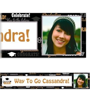 Custom Key To Success Graduation Photo Banner 6ft