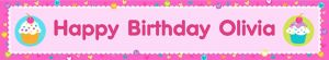 Custom Cupcake Party Banner 6ft