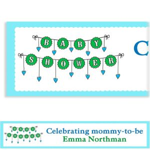 Custom Baby Clothesline Boy Baby Shower Banner 6ft