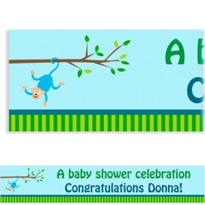 Custom Monkey on a Branch Baby Shower Banner 6ft