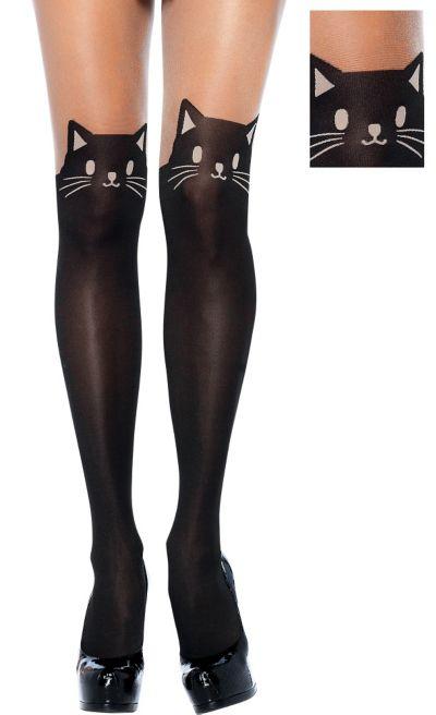 Adult Black Cat Pantyhose