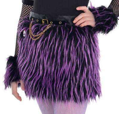 Girls Monster High Furry Skirt