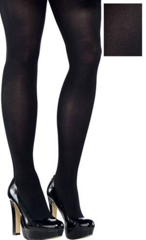 Adult Black Tights Plus Size