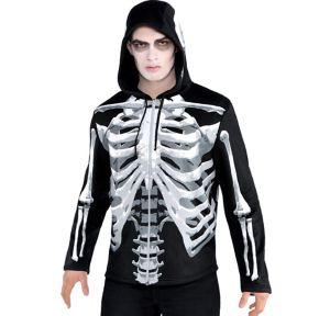 Adult Black & Bone Hoodie - Skeleton