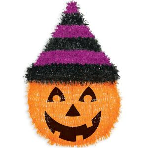 Tinsel Witch Hat Pumpkin