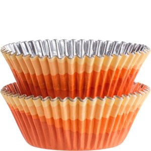 Wilton Orange Ombre Foil Baking Cups 36ct