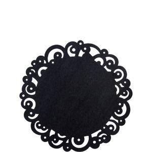 Wilton Black Swirl Round Paper Doilies 10ct