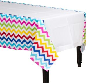 Bright Rainbow Chevron Table Cover