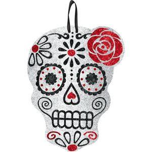 Day of the Dead Sugar Skull Glitter Sign