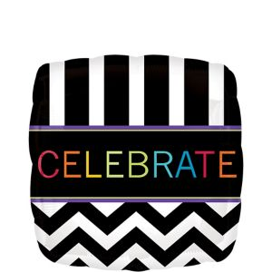 Celebrate Balloon - Square Chevron