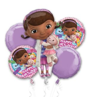 Doc McStuffins Balloon Bouquet 5pc
