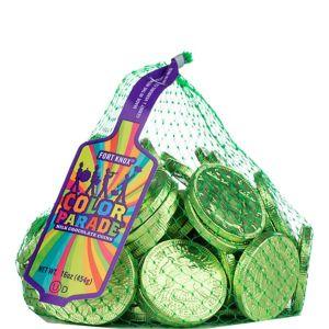 Kiwi Green Chocolate Coins 72pc