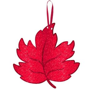 Glitter Maple Leaf Sign