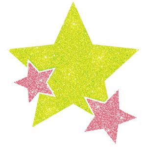 Black Light Neon Pink & Green Star Body Jewelry