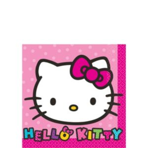 Rainbow Hello Kitty Beverage Napkins 16ct