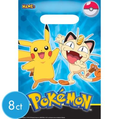 Pokemon Favor Bags 8ct